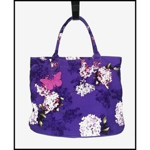 Punctuate Purple Canvas Hydrangea Tote Bag